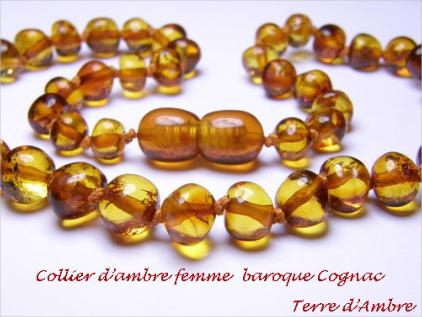 Colliers d'Ambre Femme Collection Baroque