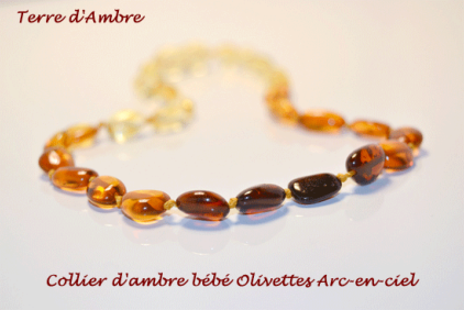 Colliers d'Ambre Bébé Collection Olivettes
