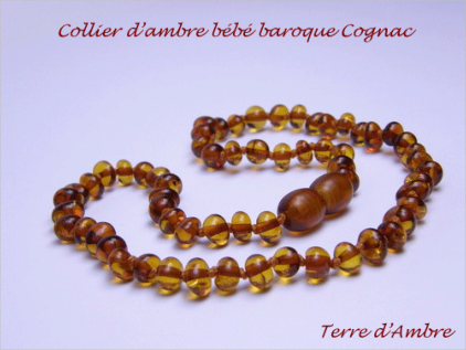 Colliers d'Ambre Bébé Collection Baroque